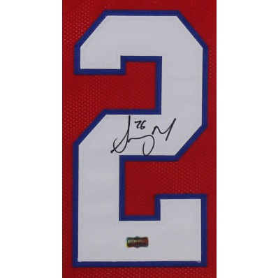 sony michel autographed jersey